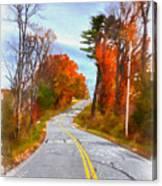 Backroads Vermont Canvas Print