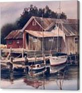 Backwater Fish Shack Canvas Print