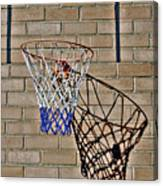 Backyard Basketball Canvas Print