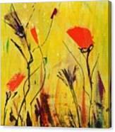 Backyard Flowers 2 Canvas Print