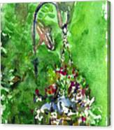 Backyard Hanging Plant Canvas Print