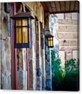 Backyard Lanterns Canvas Print