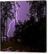 Backyard Lightning Canvas Print