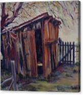 Backyard Shed Canvas Print