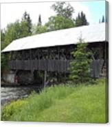 Bacon Bridge In Pittsburgh Nh Canvas Print