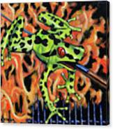 Bad Froggy In Hell Canvas Print
