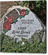 Badger Rose Bowl Win 1999 Canvas Print