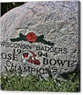 Badgers Rose Bowl Win 1994 Canvas Print