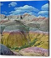 Badlands 3 Canvas Print