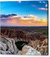 Badlands Np Pinnacles Overlook 3 Canvas Print