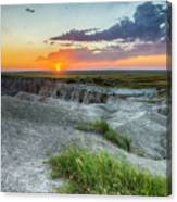 Badlands Np Wilderness Overlook 3 Canvas Print