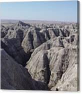 Badlands S.dakota Landscape  Canvas Print