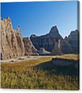 Badlands Sunset On Wihite Sandstpone Canvas Print
