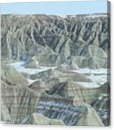 Badlands Under Snow Canvas Print