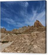 Badlands View From A Trail Canvas Print