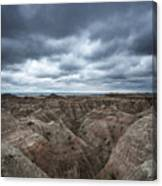 Badlands White River Valley  Canvas Print