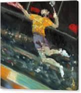 Badminton Player Canvas Print