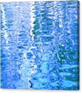 Baffling Blue Water Canvas Print