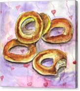 Bagels Canvas Print