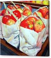 Bags Of Apples Canvas Print