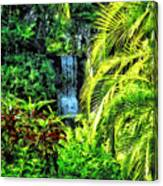 Bahamas - Tropical Waterfall Canvas Print