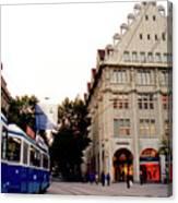 Bahnhofstrasse Zurich Canvas Print