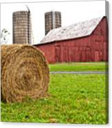 Bail And Barn Canvas Print