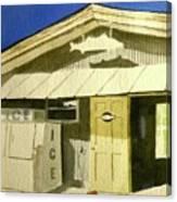 Bait Shop In Gasparilla Florida Canvas Print