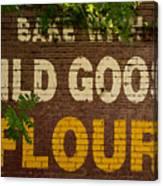 Bake With Wild Goose Flour Canvas Print
