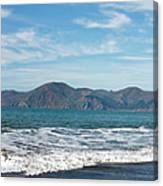 Baker Beach Panorama Canvas Print