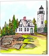 Baker Island Bar Harbor Maine Canvas Print