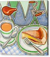 Bakewell Pudding And Cup Of Tea At Eroica Britannia  Canvas Print