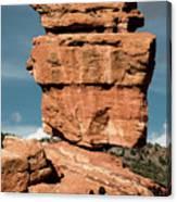 Balanced Rock At Garden Of The Gods Canvas Print