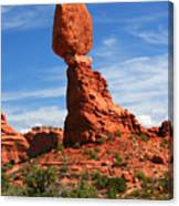 Balanced Rock In Arches National Park, Moab, Utah Canvas Print