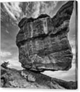 Balanced Rock Monochrome Canvas Print