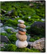 Balancing Zen Stones By The Sea II Canvas Print