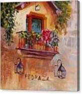 Balcony In Bloom Canvas Print