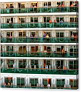 Balcony People Canvas Print