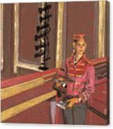 Balcony Usher Canvas Print