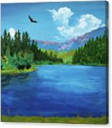 Bald Eagle At Hume Lake - Psalm 103 Verse 5 Canvas Print