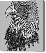 Bald Eagle Zentangle Canvas Print