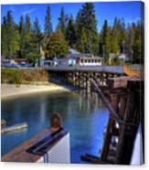 Balfour Bc Docks And Ferry  Canvas Print