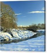 Balheary  Demesne In The Snow Canvas Print
