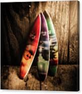Bali Beach Surf Holiday Scene Canvas Print