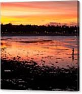 Bali Fisherman Sunset Canvas Print