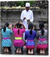 Bali Temple Women Blessing Canvas Print