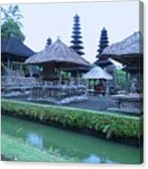 Balinese Temple By The Water Canvas Print