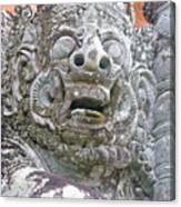 Balinese Temple Guardian Canvas Print