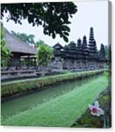 Balinese Temple With Flower Canvas Print