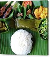 Balinese Traditional Lunch Canvas Print